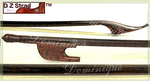 (D Z Strad Old German Baroque Style Violin Bow Snakewood Full Size 4/4)