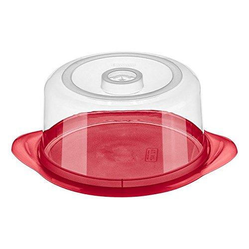 Porta Queijo Sanremo Vermelho plástico