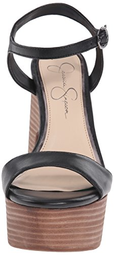 Jessica Simpson vestido de las mujeres del remolino plataforma sandalias Negro