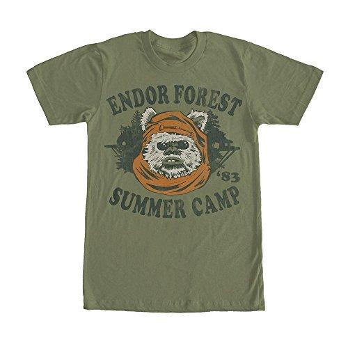 c5ff731b Star Wars Ewok Summer Camp Mens Graphic T Shirt - Fifth Sun, Forest Green,