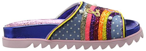 Blue Love Peace Women's Irregular Blue Mules Pink Choice EtpYxqxF