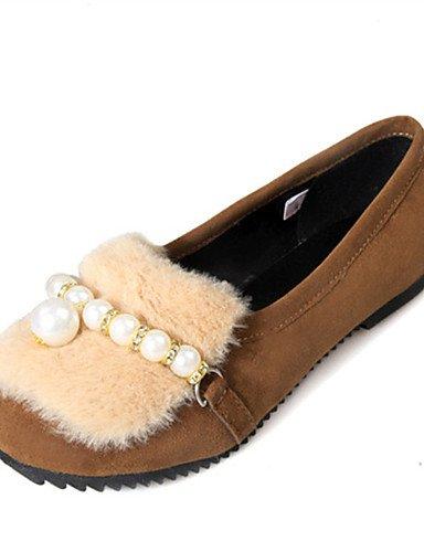 ZQ YYZ Zapatos de mujer-Tac¨®n Plano-Comfort-Planos-Exterior / Vestido / Casual-Materiales Personalizados-Negro / Plata / Gris , black-us6 / eu36 / uk4 / cn36 , black-us6 / eu36 / uk4 / cn36