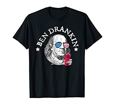 Ben Drankin T-Shirt Funny Red White Blue Gift for July 4th