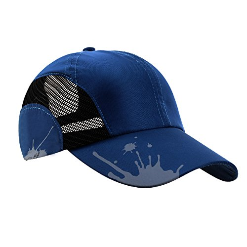 Atoful Men Summer Outdoor Sport Hats Visor Sun Cap (Blue) (Sun Visor Cap Sports)