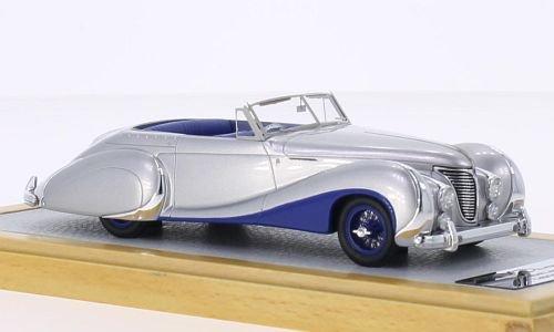 talbot-lago-t26-record-convertible-saoutchik-silver-dark-blue-rhd-1948-model-car-ready-made-chromes-
