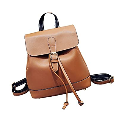 c02972ee71 durable service Afco Korean College Student Backpacks Womens Small Leather  Shoulder Bag Travel Rucksack