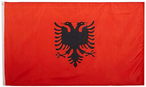 US Flag Store Albania 3ft x 5ft Printed Polyester Flag