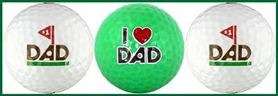 #1 Dad w/ Love You Dad Golf Ball Gift Set