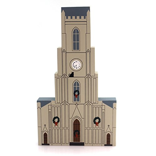 CATS MEOW VILLAGE ST PATRICKS CHURCH Wood New Orleans Christmas Retired 9942