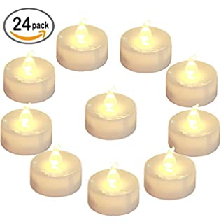 homemory battery led tea lights pack of 24 flameless tealight candle with warm white - Tea Light Candle Holders