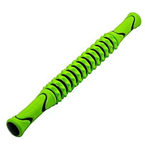 FEGSY-Manual-Massage-Stick-Legs-Roller-with-Trigger-Point-Muscle-Roller-for-Physical-Acupressure-Therapy-Green