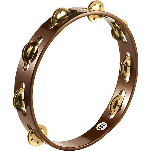 Wood Tambourine One Row Pack of 2