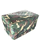 ZEMIN Garden Furniture Cover Chair Hood Thicken Shelter Tarpaulin Waterproof Dustproof 600D Oxford Cloth, Customizable, 22 Sizes (Color : Camouflage, Size : 160X130X90CM)