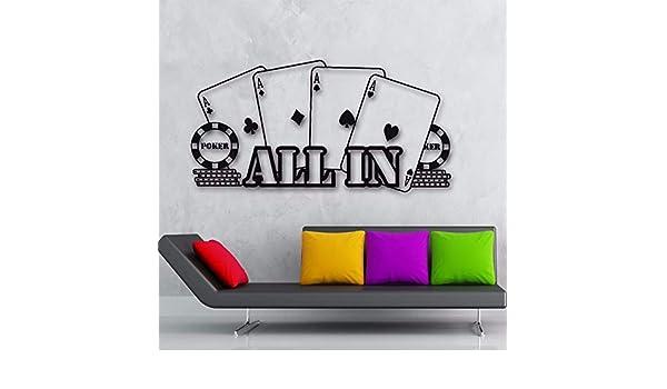 zqyjhkou All In Player Gambler Cards Etiqueta de la Pared ...