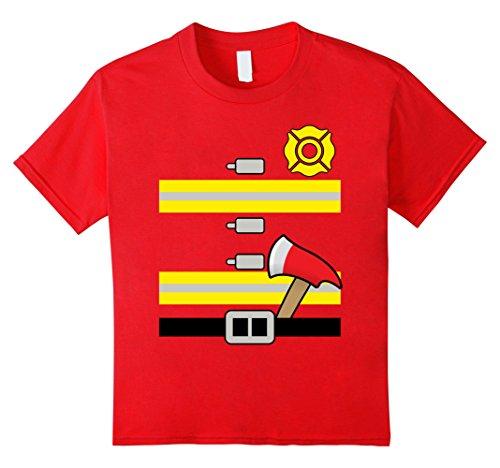 Fire Uniform Shirts (Kids Kids Firefighter Uniform - Boys & Girls Halloween T-Shirt 6)
