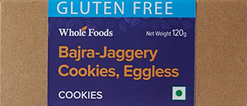 Whole Foods Gluten Free Bajra Jaggery Cookies Eggless, 120g