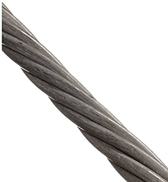 Loos Stainless Steel 316 Wire Rope, 1x7 Strand: Cable And Wire Rope ...