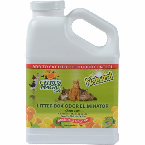 Citrus Magic Pet Litter Box Odor Eliminator Fresh Citrus, 40-Ounce by Citrus Magic