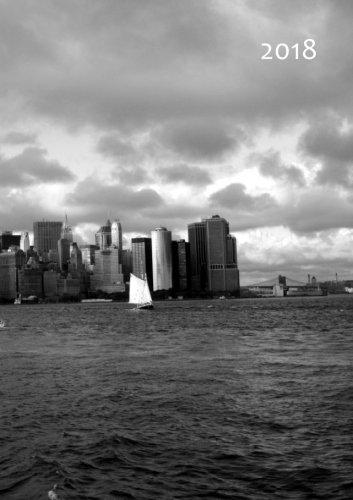 Kalender 2018 - New York Skyline: DIN A5, 1 Woche auf 2 Seiten, Platz für Adressen und Notizen (German Edition)