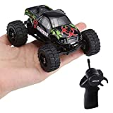 Virhuck 1:32 Scale Rc Monster Truck, 2.4GHZ 2WD Radio Remote Control Buggy, 20km/h Big Wheel Off-Road Vehicle
