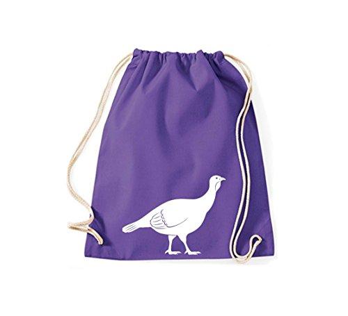 Shirtstown - Bolso de tela de algodón para mujer morado