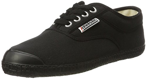 Kawasaki Rainbow Step Basic Black - Zapatillas Unisex adulto Negro - negro