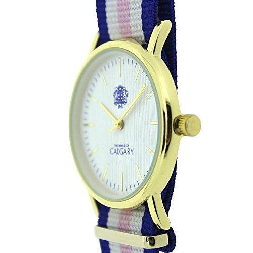 Relojes Calgary Cannes colección Peace & Love. Reloj Vintage para Mujer, Correa de Tela Rosa, Azul y Blanco, Esfera Blanca: Amazon.es: Zapatos y ...