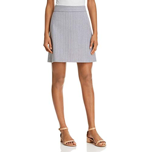Theory Womens Wool Striped Mini Skirt White 10