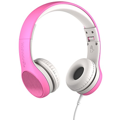 New! LilGadgets Connect+ STYLE Premium Volume Limited Wired Headphones with SharePort for Children / Kids (Pink)