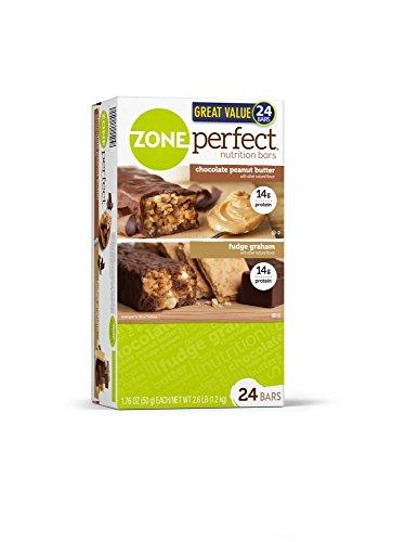 Bars ZonePerfect nutrition, Fudge Graham / Chocolate Peanut Butter Combo. 1,76 OZ, 24 Bars