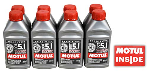 2017 Nissan Maxima Clutch - Motul 100951 Set of 8 DOT 5.1 Brake Fluid 500-Milliliter Bottles