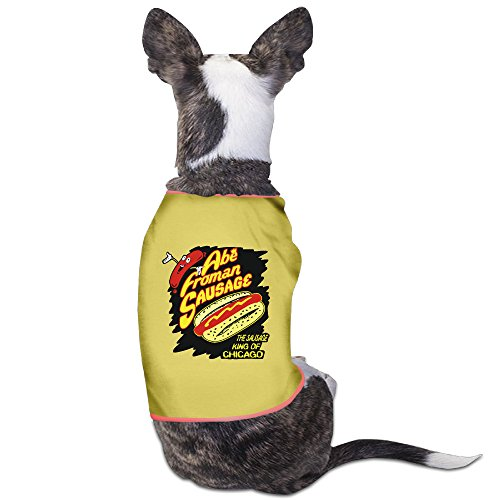 [ABE FROMAN SAUSAGE KING OF CHICAGO Dog Jackets Costumes New Pajamas Yellow] (Abe Froman Costume)