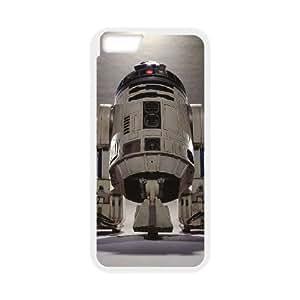 R2 D2 STAR WARS funda iPhone 6 Plus 5.5 pufunda LGadas funda del teléfono celular de cubierta blanca, funda iPhone 6 Plus casos 5,5 pufunda LGadas Funda blanco