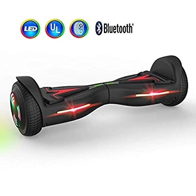 OTTO Hoverfly Tesla Design Hoverboard Luminescent Motor - UL Certified Hover Board,Self Balancing Mode
