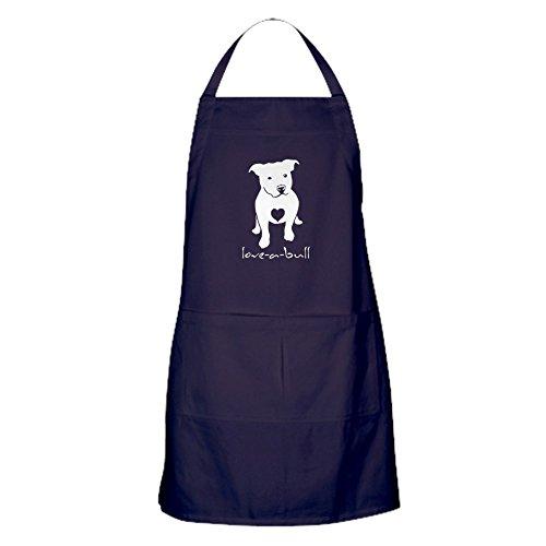 CafePress Love-A-Bull Pit Bull Apron (Dark) Kitchen Apron with Pockets, Grilling Apron, Baking Apron