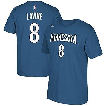 Adidas Zach LaVine Minnesota Timberwolves NBA # 8 Juventud Reproductor Nombre y número Camiseta, Niños Unisex niña Infantil, Azul: Amazon.es: Deportes y ...