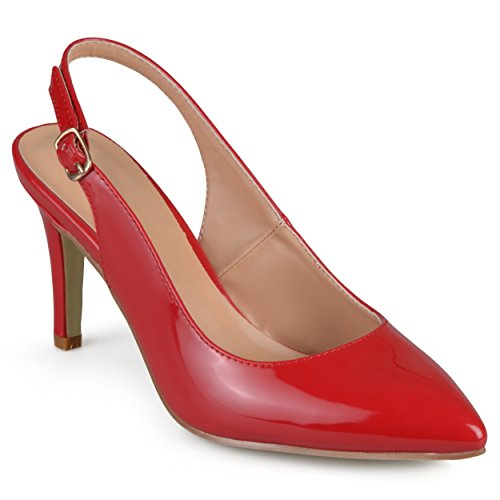 Journee Collection Escarpins À Talon En Amande Pour Femme Rouge
