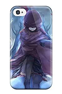 Premium Protection Unknown Anime Drawing Cemetery Cross For Apple Iphone 4/4S Case Cover - Retail Packaging