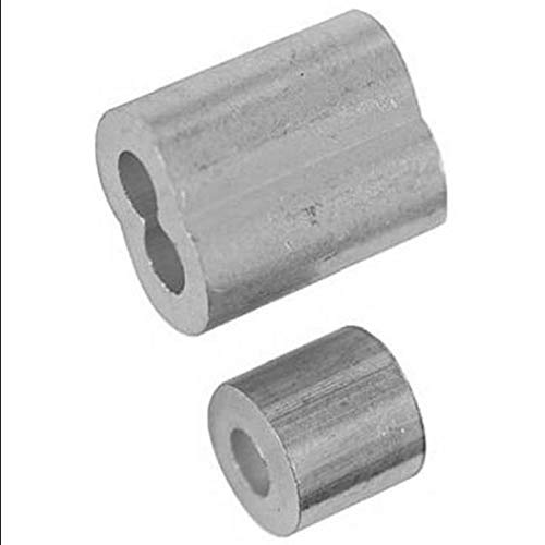 Ferrule and Stops,Aluminum,Size in=1/8,WLL Lb=340