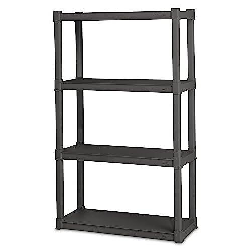 STERILITE 01643V01 4 Shelf Unit Flat Gray Shelves u0026 Legs 1-Pack  sc 1 st  Amazon.com & Food Storage Shelves: Amazon.com