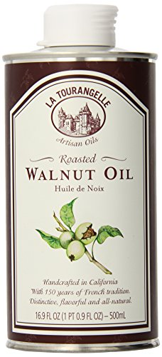 La Tourangelle Roasted Walnut Oil 16.9 Fl. Oz, All-Natural, Artisanal, Great for Salads, Marinades, Grilled Fish and Meat, or Pasta
