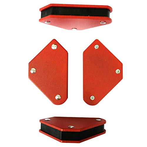Fixed Corner Clamp - Magnets Welder 4-Pack Set Arc Tig Mig Welding Magnet Holder 45° 90°135°Fixed Angle Tool, Strong Hand Soldering Tools Corner Magnet Clamp