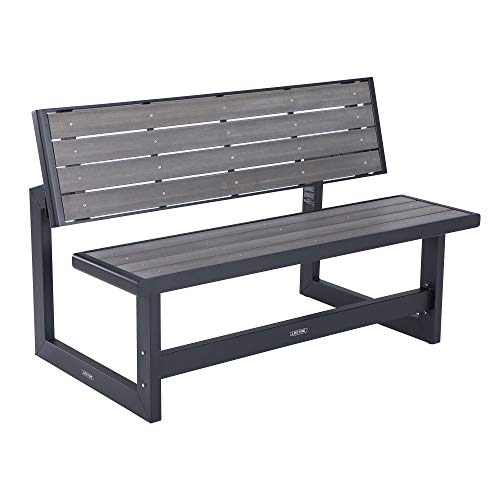 Lifetime 60253 Outdoor Convertible Bench, 55 Inch, Harbor Gray (Kit Bench Garden)