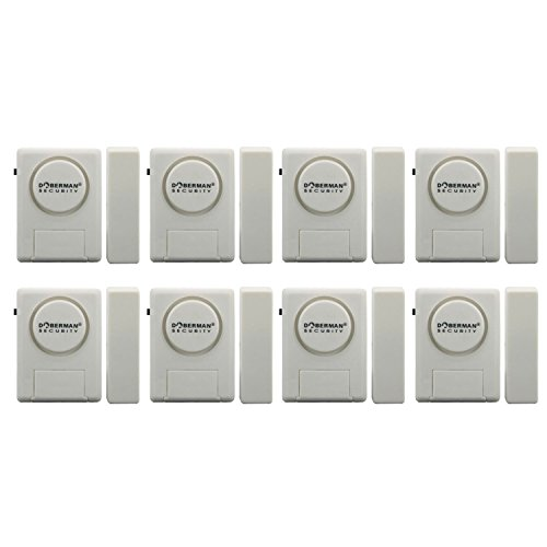 Doberman Security SE-0137-8PK Home Security Window/Door Alarm Kit, 8 Pack (White) Review