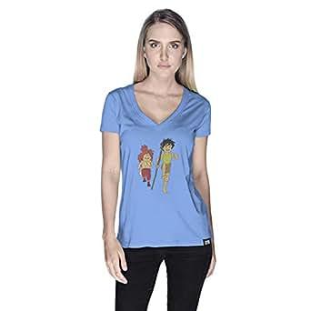 Creo Adnan Super Hero T-Shirt For Women - L, Blue