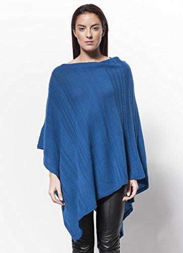 arch4 - Poncho - capa - para mujer Teel Blue