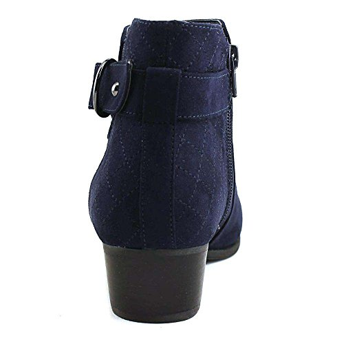 Med Toe Unisa Womens Piera Suede Fashion Ankle Closed Fabric Blue Boots qHSTw
