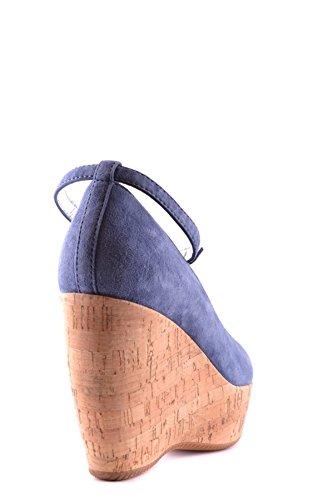 Chaussures Compensées MCBI148055O Hogan Femme Bleu Suède IBX64w