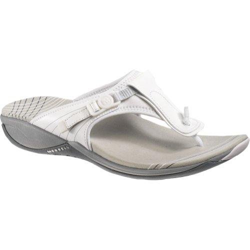 (Merrell Women's Pansy Thong Sandals White)