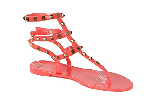 Shoes Pink Fashion 2016 Women's Design Girls for Summer New coral Crush J 601 AxUwxqX